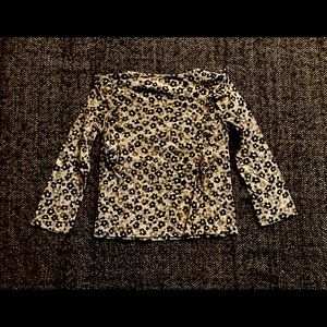 Gap leopard print top with ruffles size 4-…